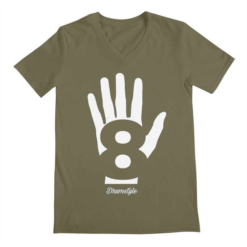 8 ON A HAND by Drumstyle Men's V-Neck by Online Store