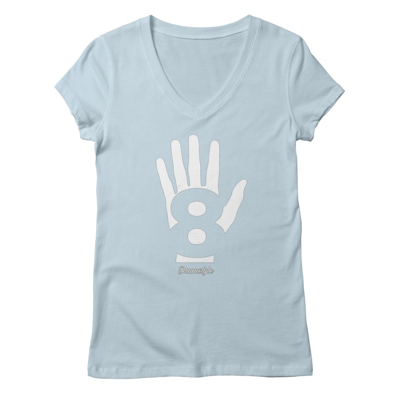 8 ON A HAND by Drumstyle Women's V-Neck by Online Store