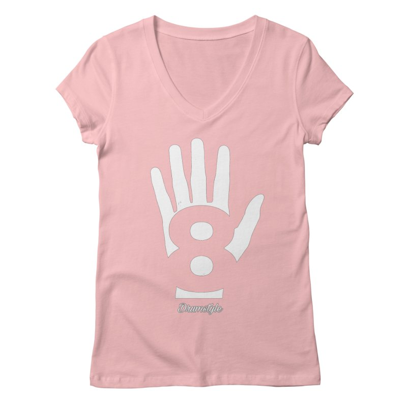 8 ON A HAND by Drumstyle Women's Regular V-Neck by Online Store