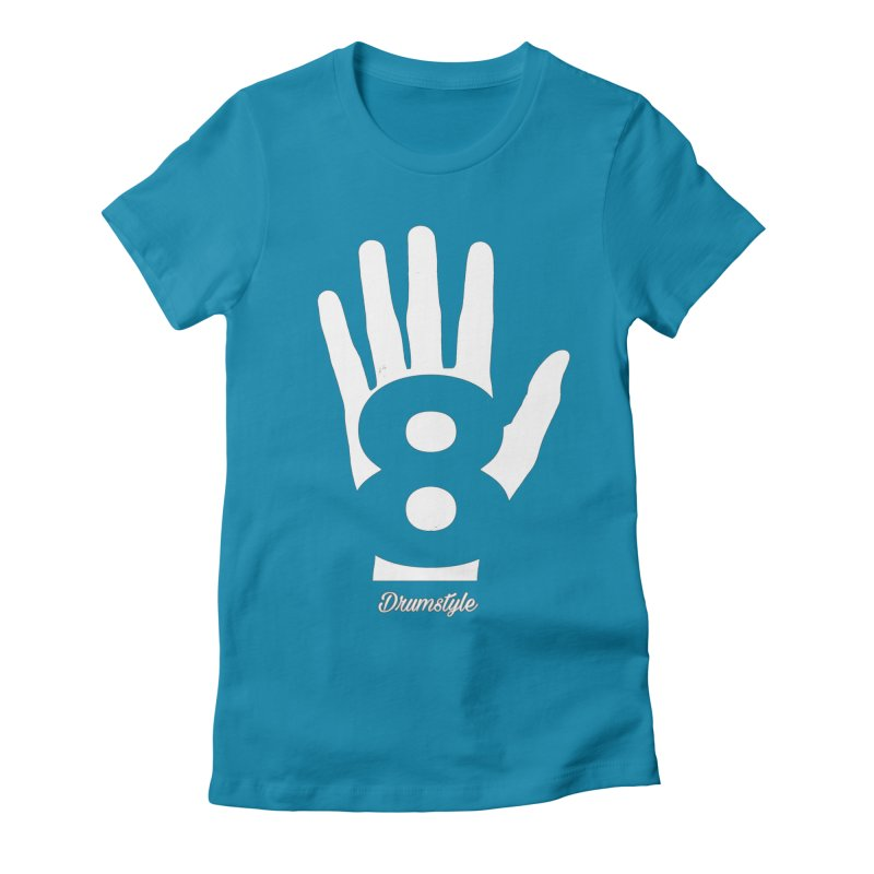 8 ON A HAND by Drumstyle Women's Fitted T-Shirt by Online Store