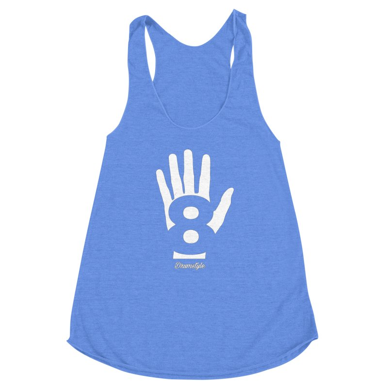 8 ON A HAND by Drumstyle Women's Racerback Triblend Tank by Online Store