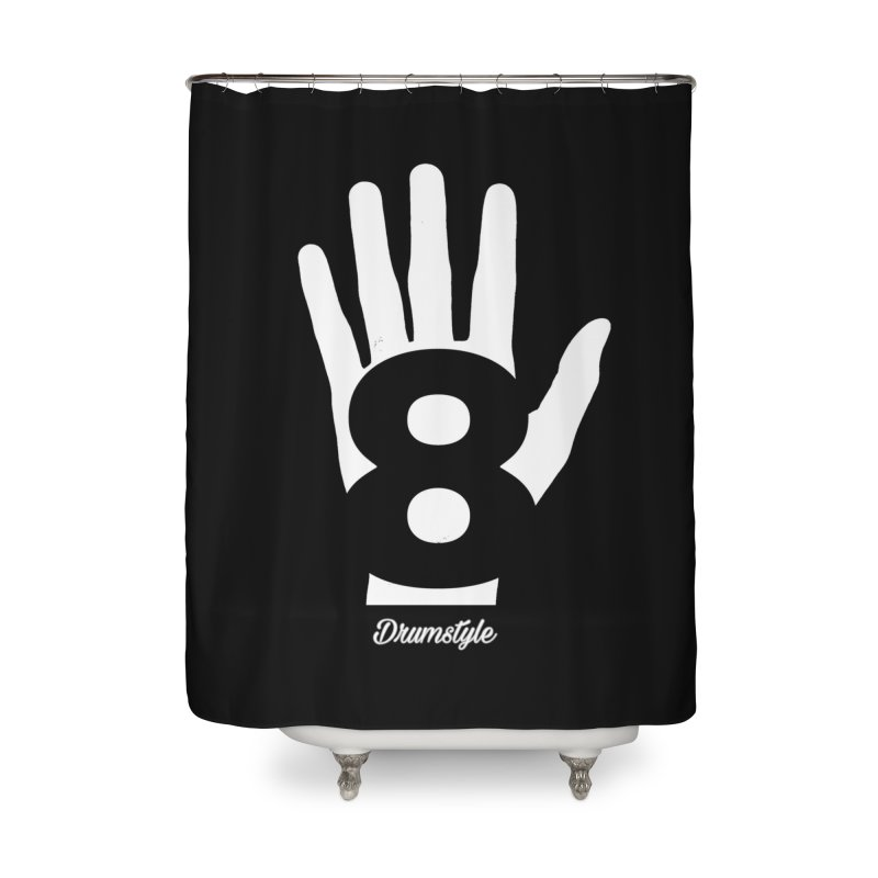8 ON A HAND by Drumstyle Home Shower Curtain by Online Store