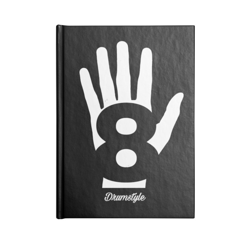 8 ON A HAND by Drumstyle Accessories Lined Journal Notebook by Online Store