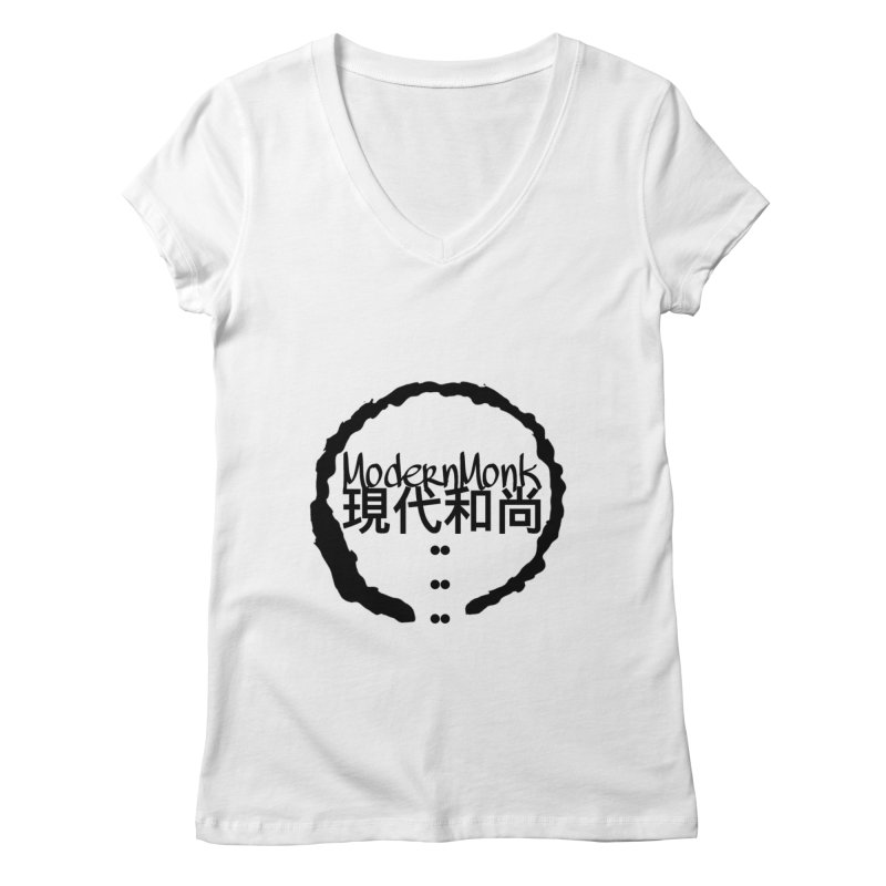 ModernMonkZen Women's Regular V-Neck by Online Store