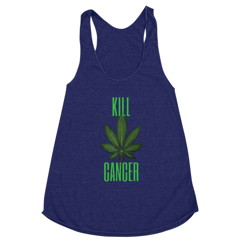 Kill Cancer Women's Racerback Triblend Tank by Online Store