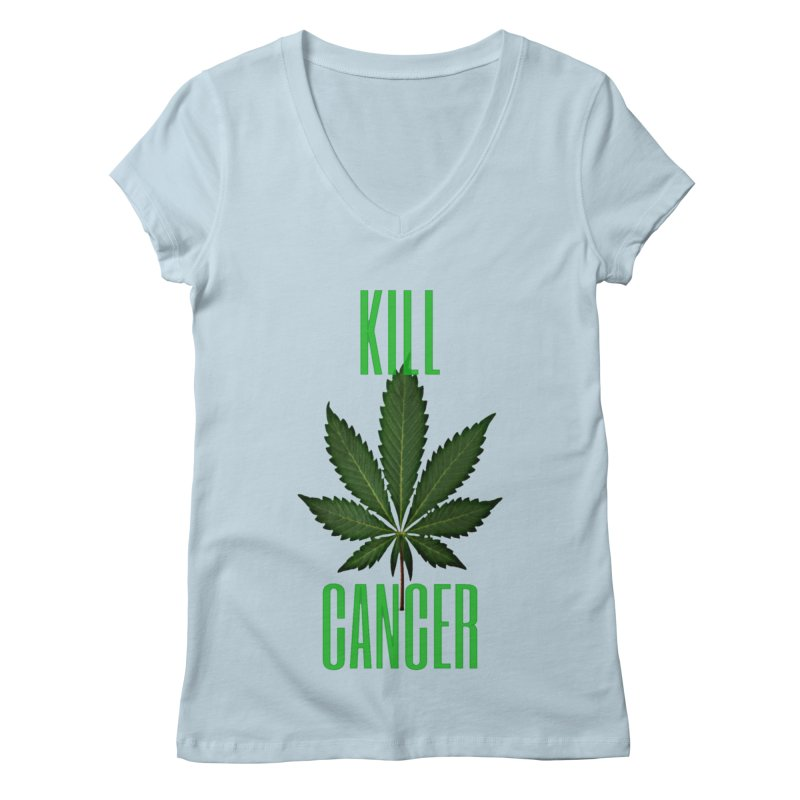 Kill Cancer Women's V-Neck by Online Store