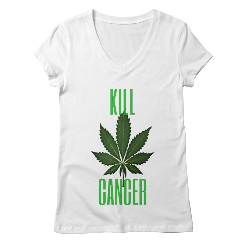 Kill Cancer Women's Regular V-Neck by Online Store