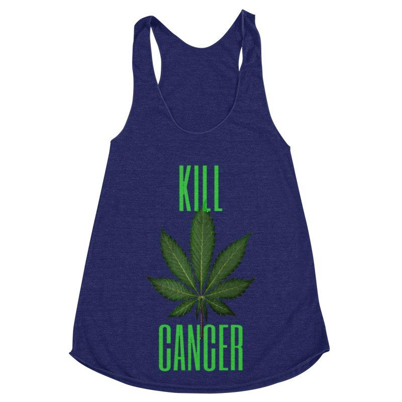 Kill Cancer Women's Racerback Triblend Tank by Online Store