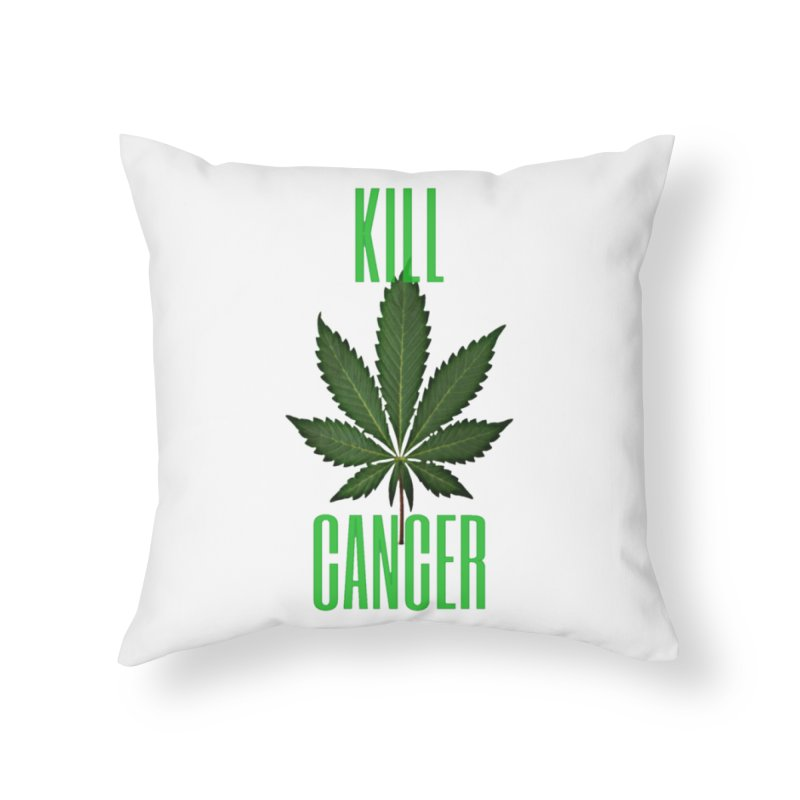 Kill Cancer Home Throw Pillow by Online Store