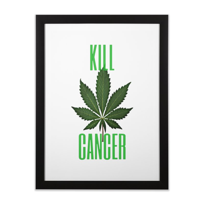 Kill Cancer Home Framed Fine Art Print by Online Store