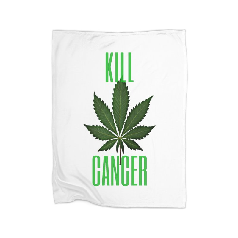 Kill Cancer Home Fleece Blanket Blanket by Online Store