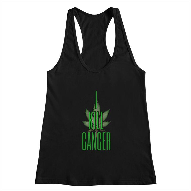 I Kill Cancer Women's Racerback Tank by Online Store