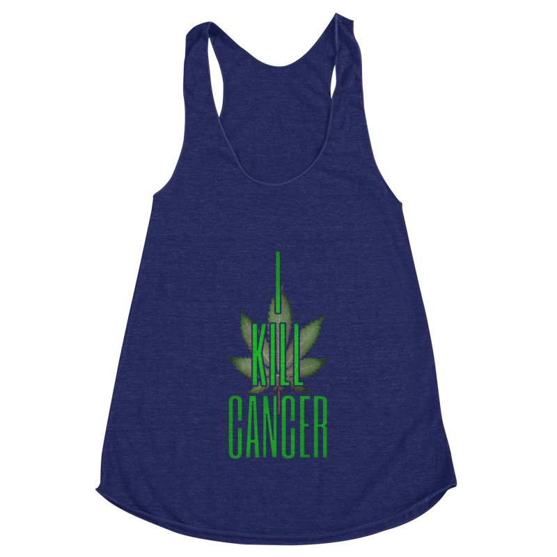 I Kill Cancer Women's Racerback Triblend Tank by Online Store