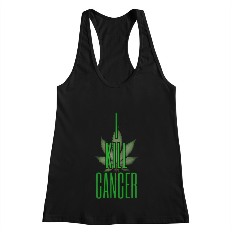 I Kill Cancer Women's Racerback Tank by Online Store