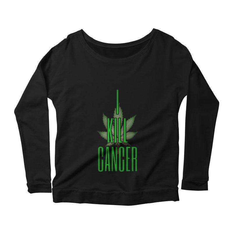 I Kill Cancer Women's Scoop Neck Longsleeve T-Shirt by Online Store