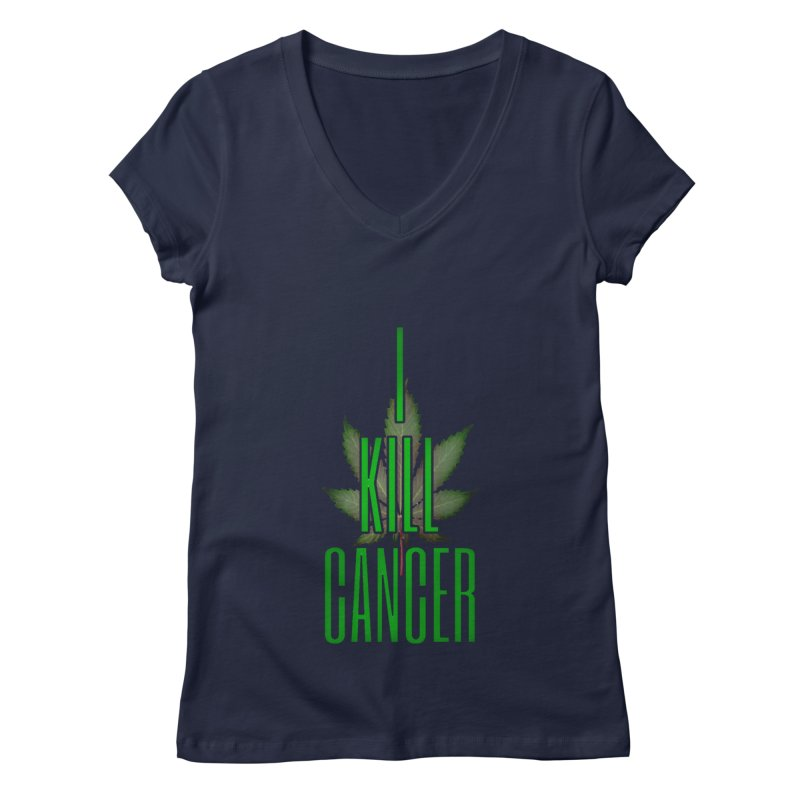I Kill Cancer Women's Regular V-Neck by Online Store