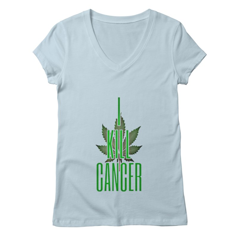 I Kill Cancer Women's V-Neck by Online Store