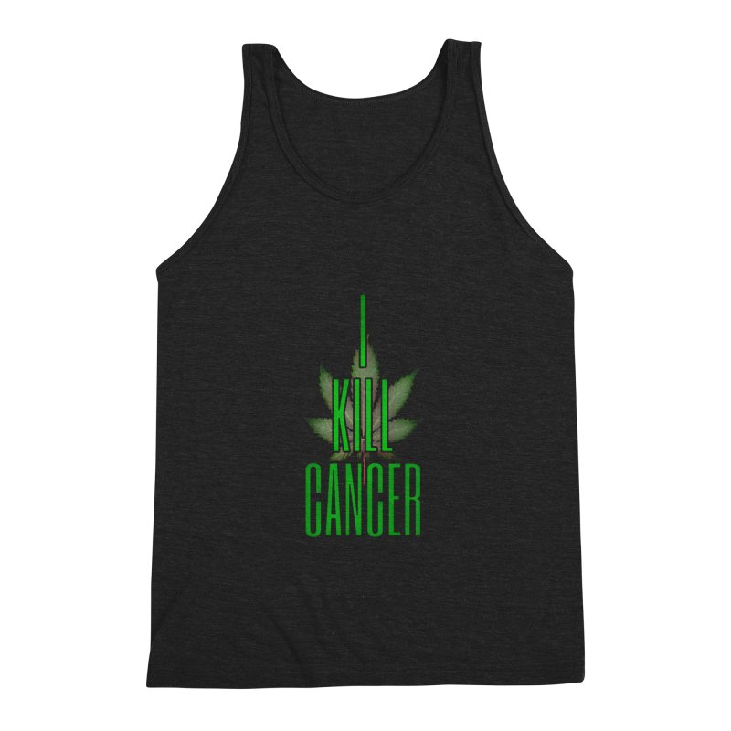 I Kill Cancer Men's Triblend Tank by Online Store