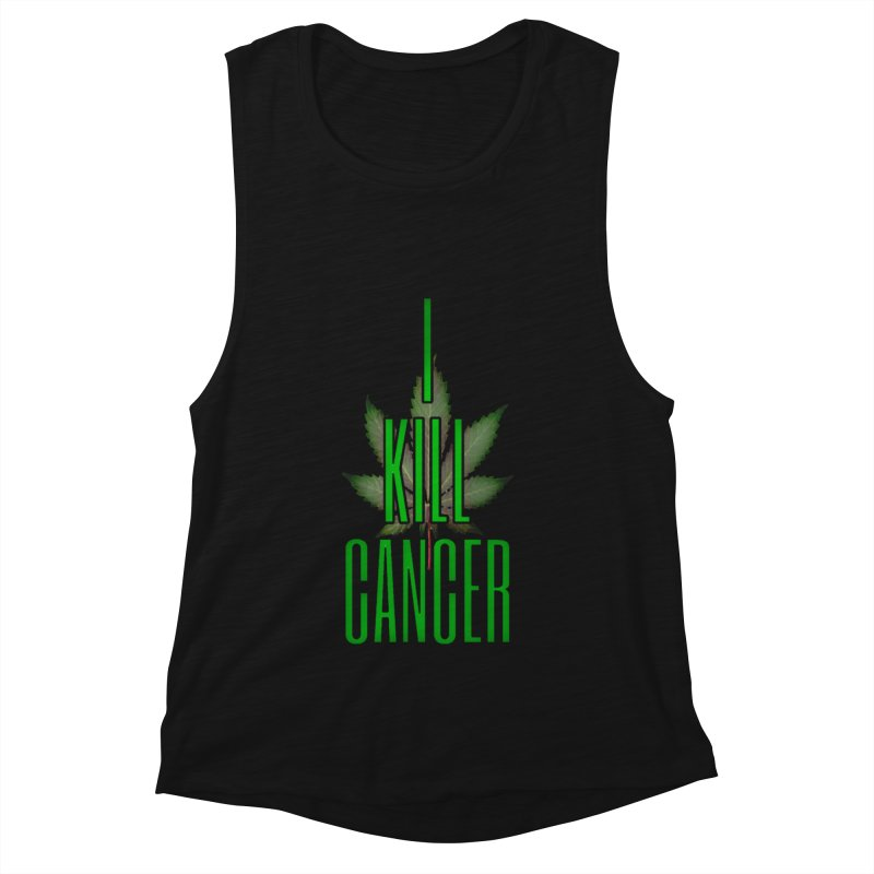 I Kill Cancer Women's Muscle Tank by Online Store
