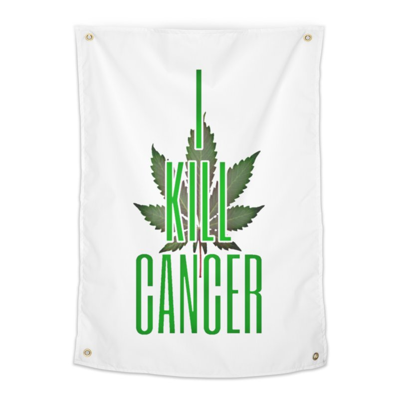 I Kill Cancer Home Tapestry by Online Store