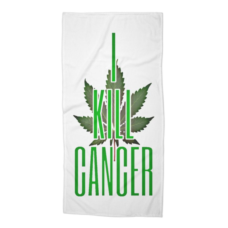 I Kill Cancer Accessories Beach Towel by Online Store