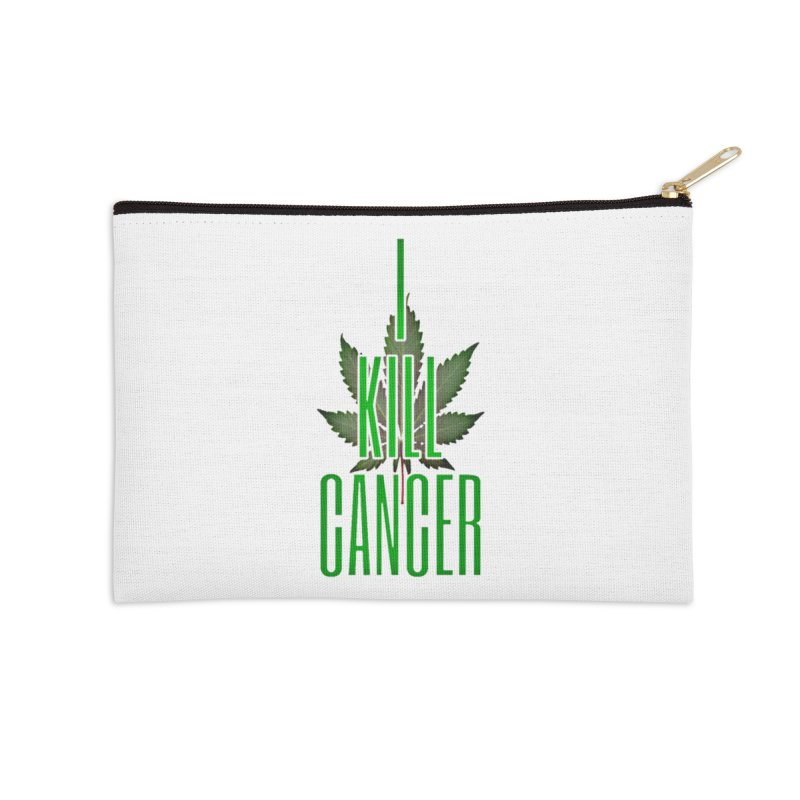 I Kill Cancer Accessories Zip Pouch by Online Store