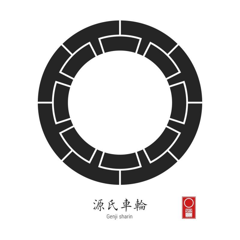 Genji sharin   KAMON [ Japanese Family Crest ] by 504d's Artist Shop