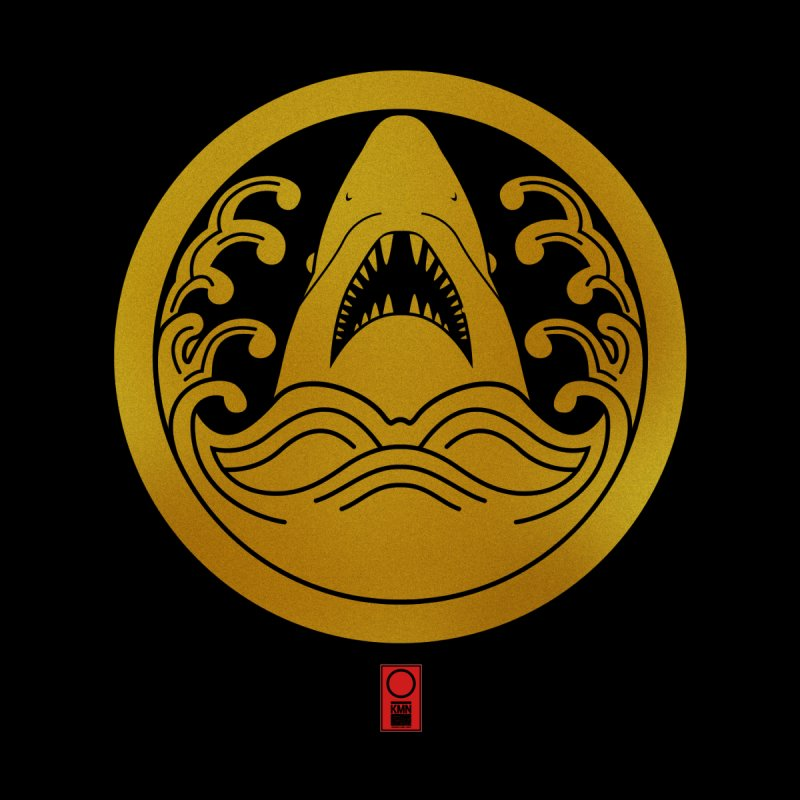 The Shark and Wave in circle | Original Japanese Family Crest by 504d's Artist Shop