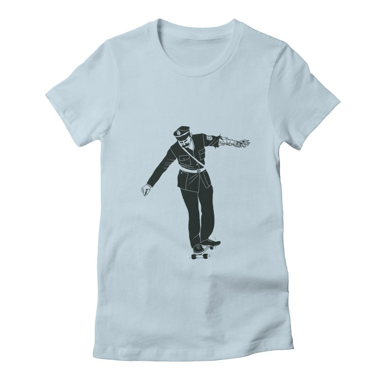 Copskates Women's Fitted T-Shirt by 51brano's Artist Shop
