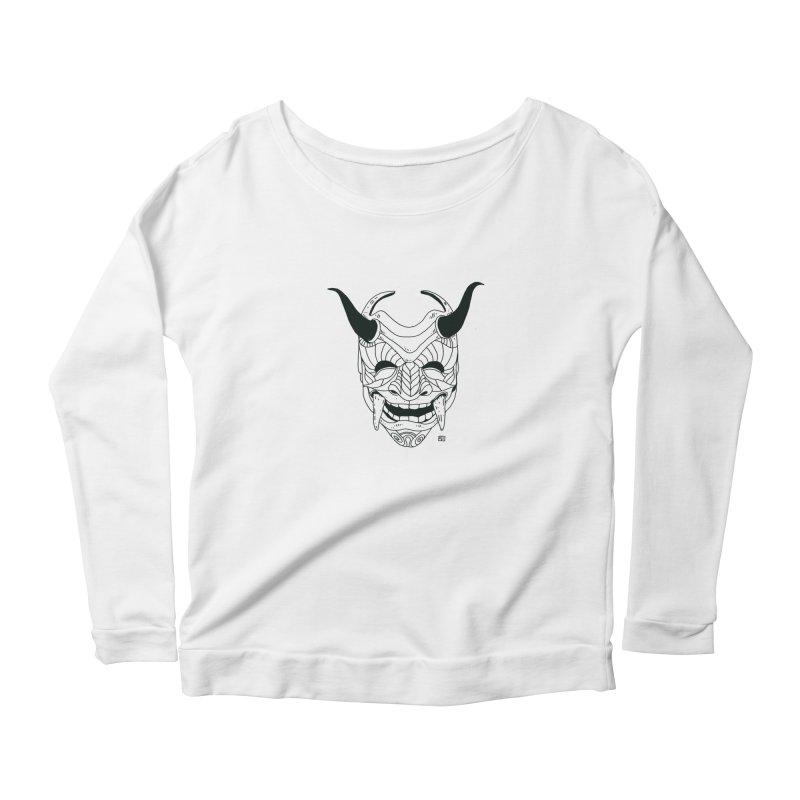 Hahaha Women's Scoop Neck Longsleeve T-Shirt by 51brano's Artist Shop