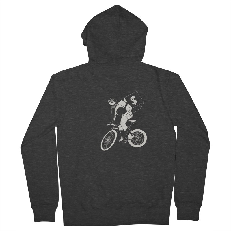 Courier Men's French Terry Zip-Up Hoody by 51brano's Artist Shop