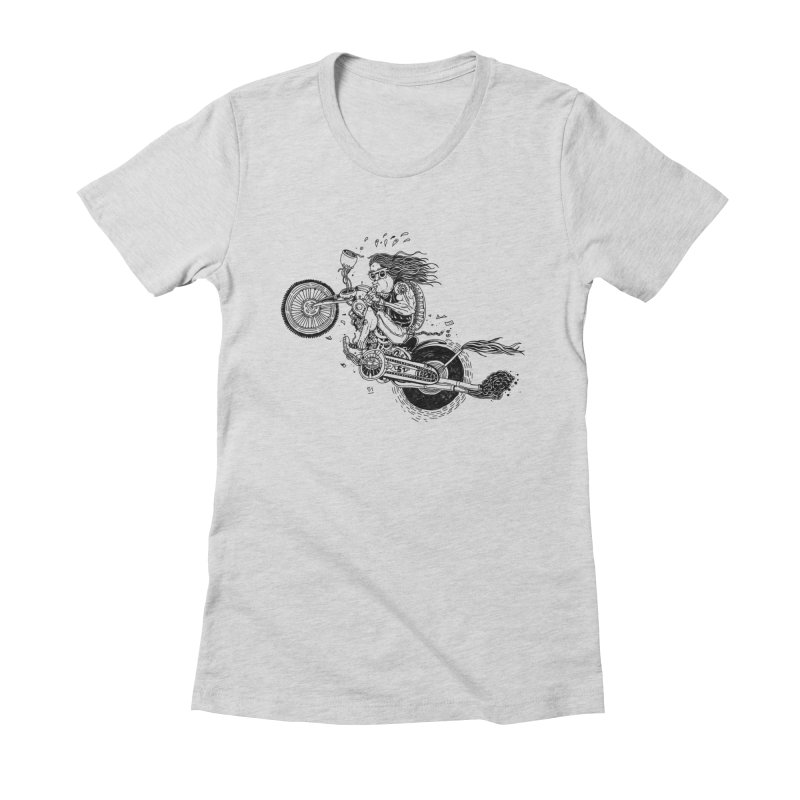 Rides Women's Fitted T-Shirt by 51brano's Artist Shop