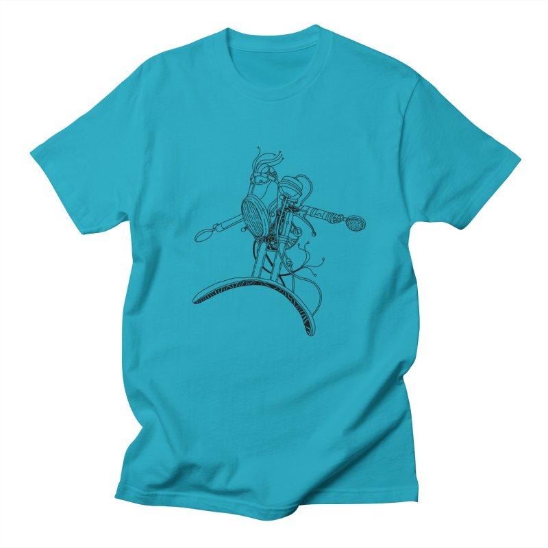 Surfblck Men's Regular T-Shirt by 51brano's Artist Shop