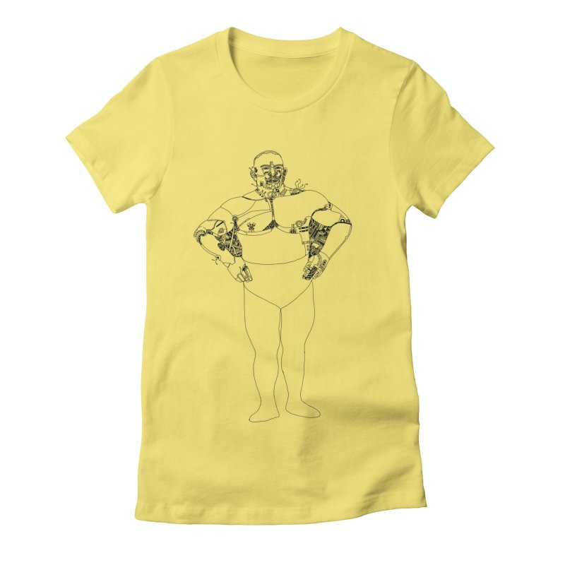 Strongman Women's Fitted T-Shirt by 51brano's Artist Shop