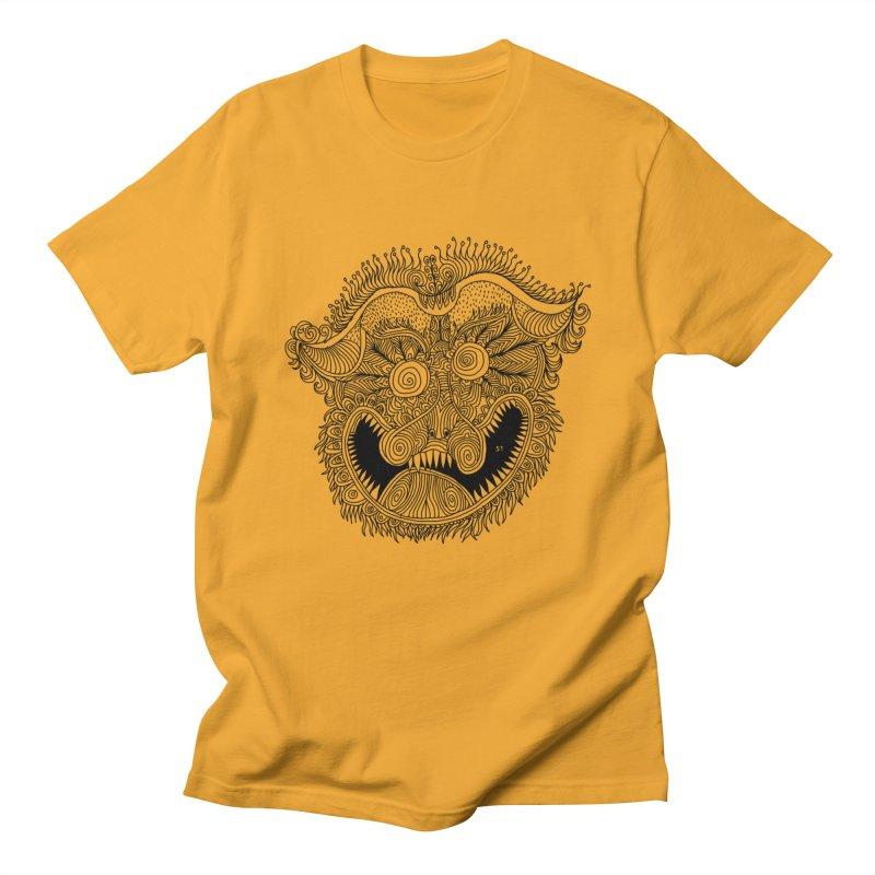 Mask blcklines Women's Regular Unisex T-Shirt by 51brano's Artist Shop