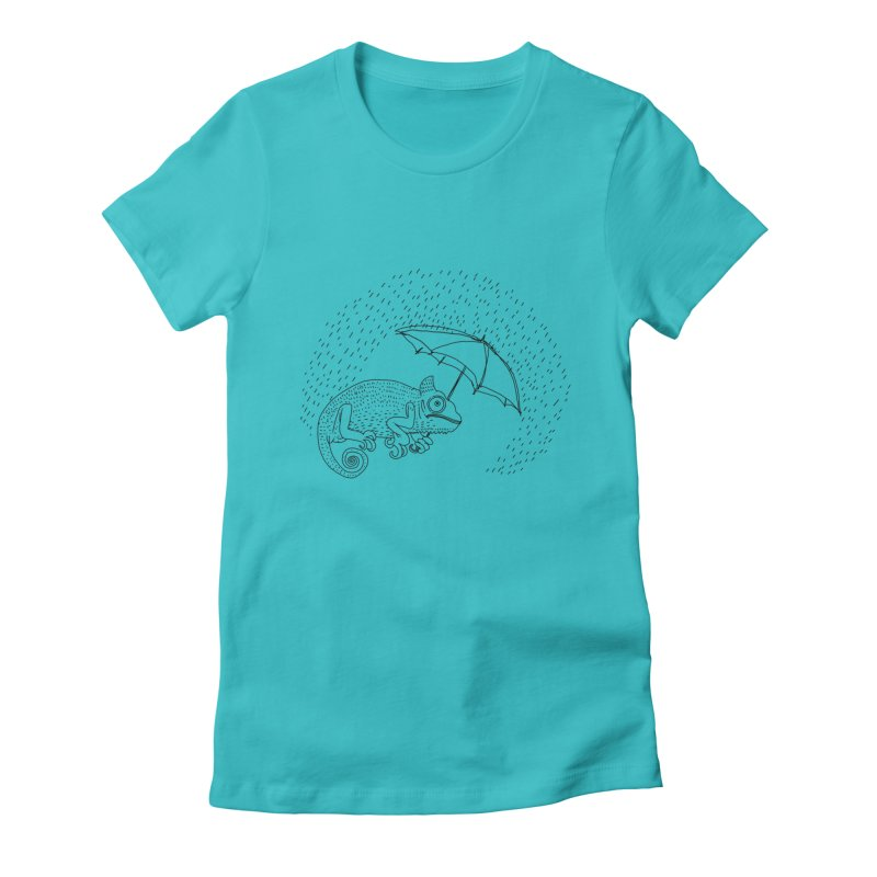 Rainyblck Women's Fitted T-Shirt by 51brano's Artist Shop