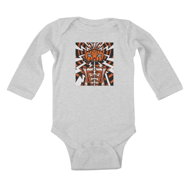 Mr Hypno-Pumpkin Kids Baby Longsleeve Bodysuit by 57WEST