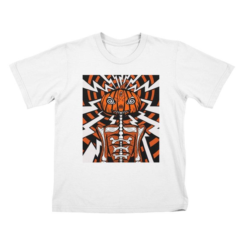 Mr Hypno-Pumpkin Kids T-Shirt by 57WEST