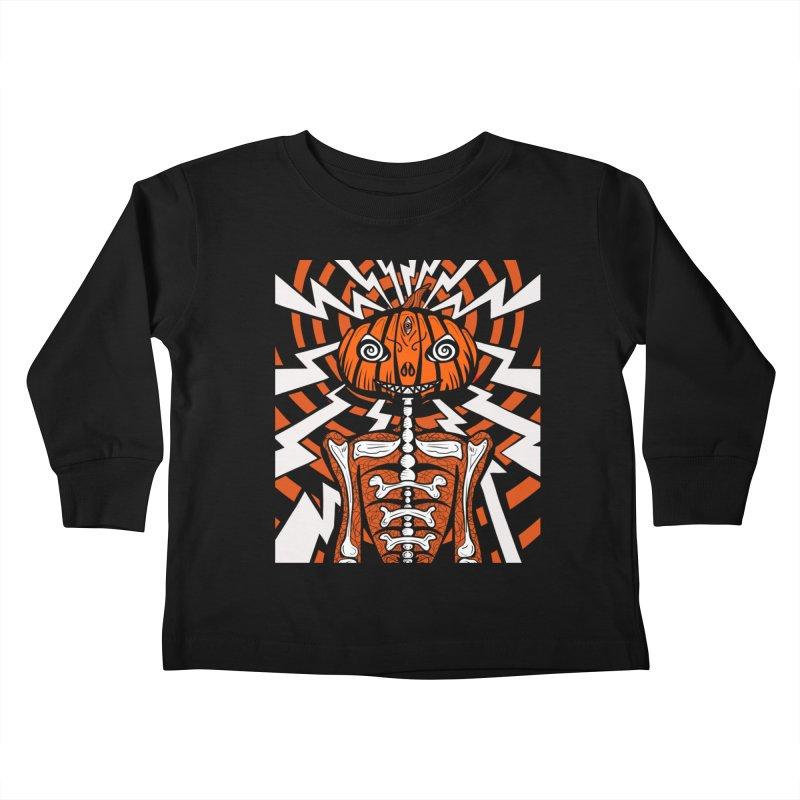 Mr Hypno-Pumpkin Kids Toddler Longsleeve T-Shirt by 57WEST