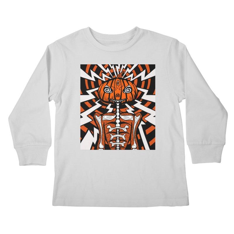 Mr Hypno-Pumpkin Kids Longsleeve T-Shirt by 57WEST