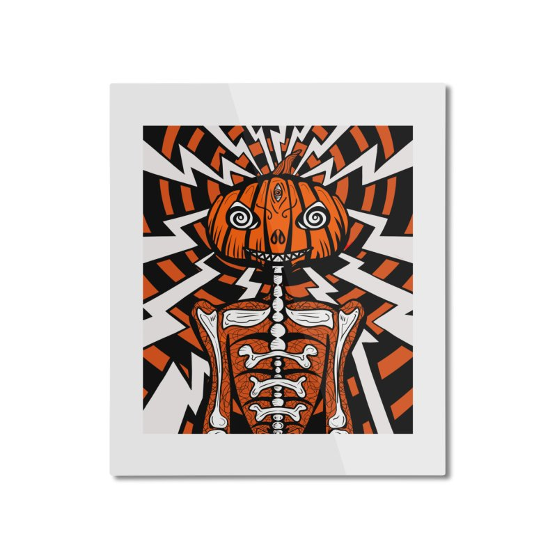 Mr Hypno-Pumpkin Home Mounted Aluminum Print by 57WEST