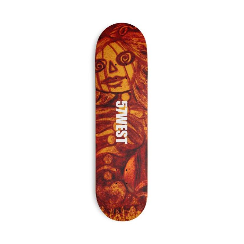 Hypno-Pumpkin Girl Accessories Skateboard by 57WEST