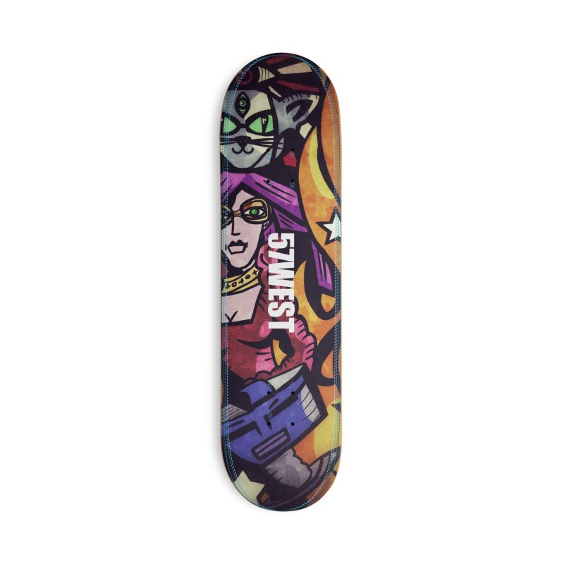 Cyber Cat & Net Girl Accessories Skateboard by 57WEST