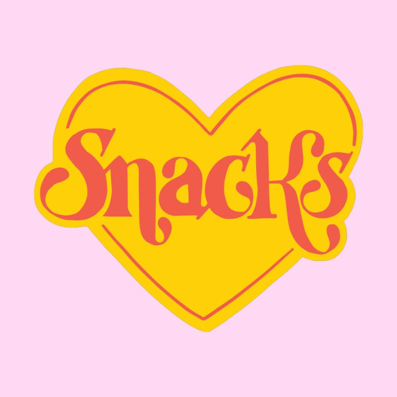 Luvin' Snacks Accessories Magnet by 5 Eye Studio