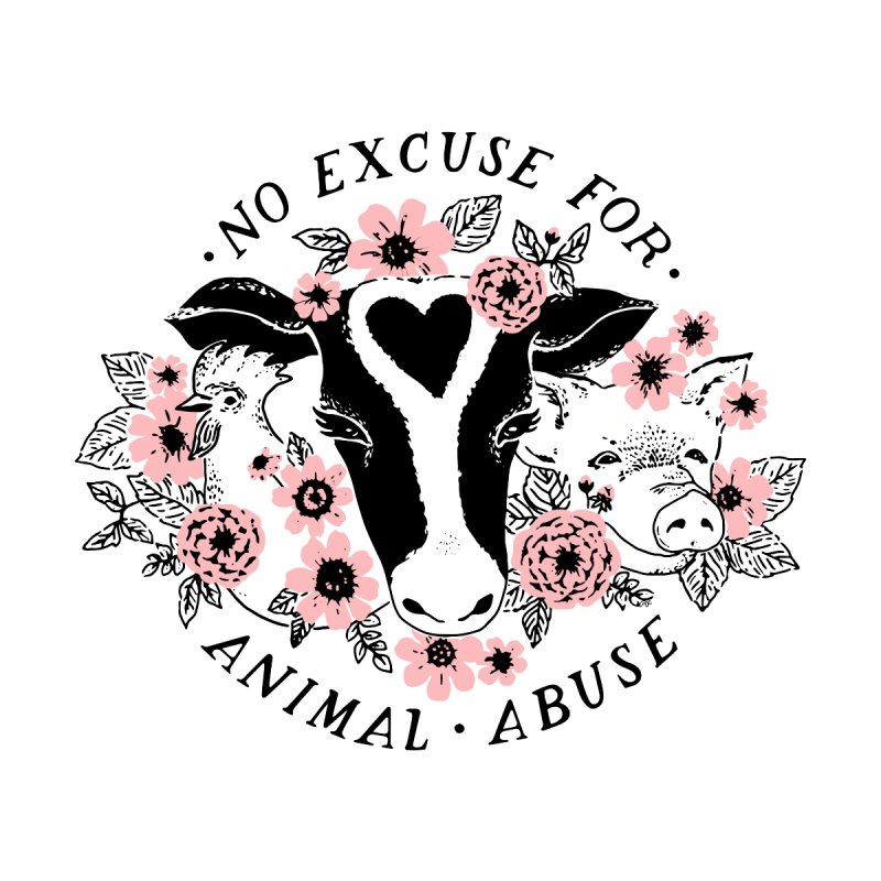 No Excuse for Animal Abuse Kiddos Pullover Hoody by 5 Eye Studio