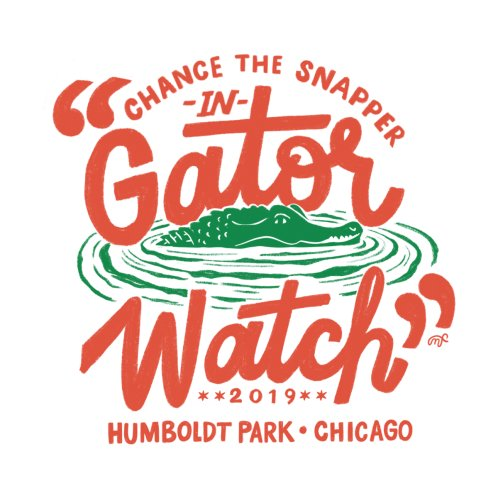 Design for Gator Watch - white background