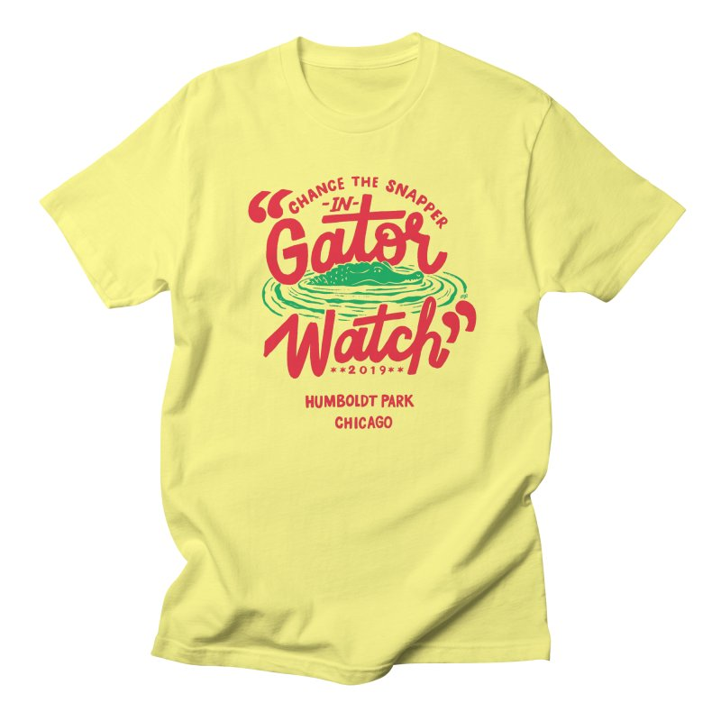 Gator Watch - white background Men's T-Shirt by 5 Eye Studio