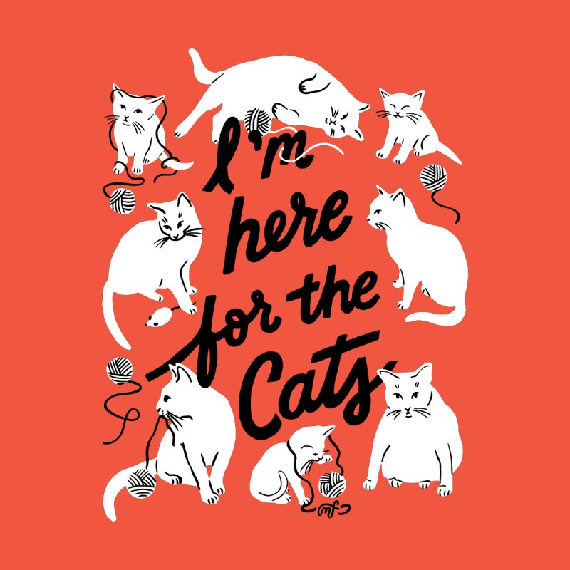 I'm Here for the Cats (Colored Background) Kids Baby Bodysuit by 5 Eye Studio