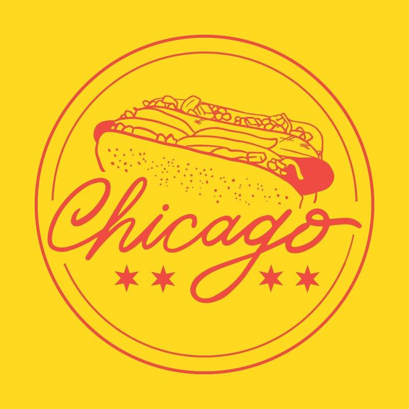 Retro Chicago Hot Dog by 5 Eye Studio
