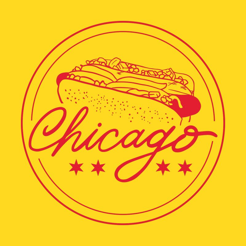 Retro Chicago Hot Dog Men's T-Shirt by 5 Eye Studio